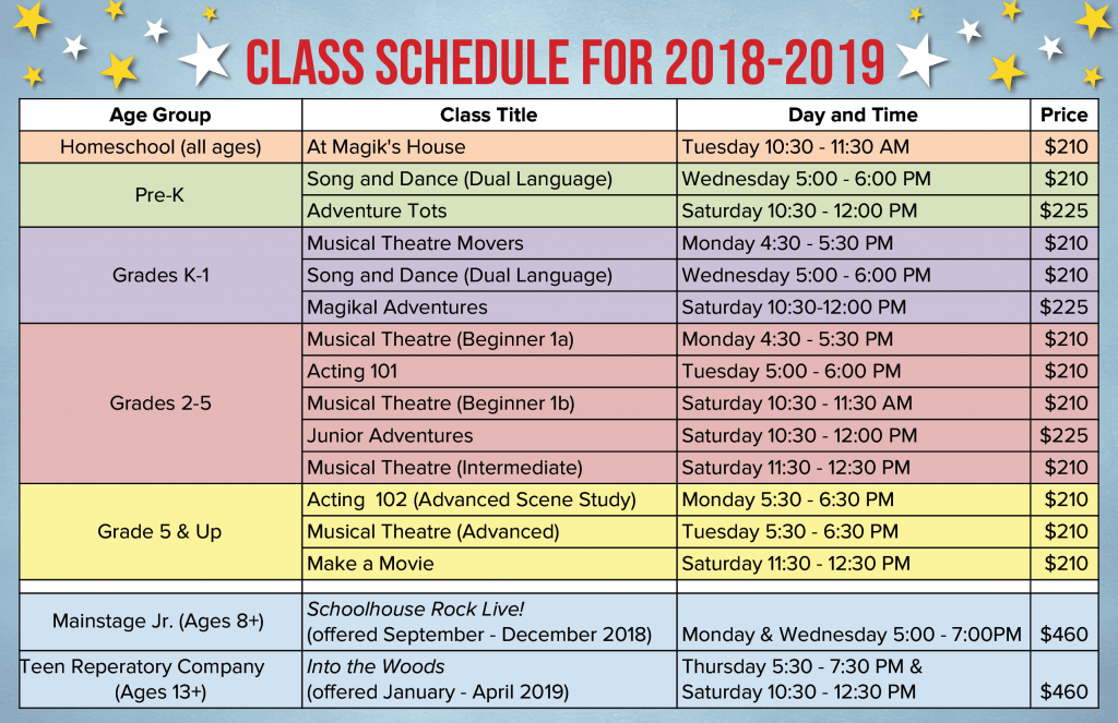 Classes - Magik Theatre